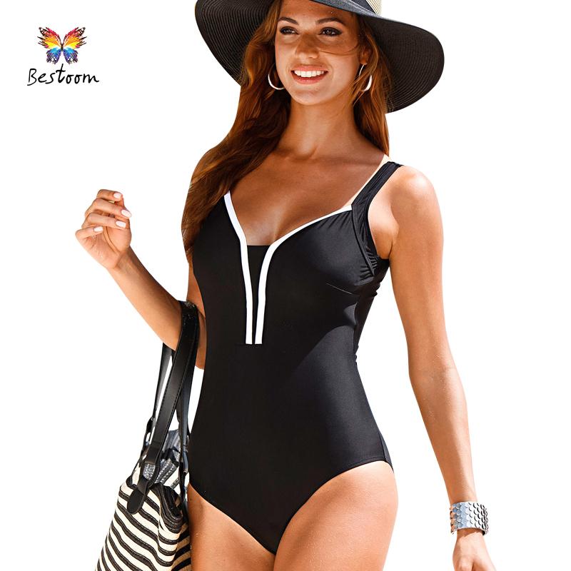 One Piece Swimsuit Plus Size Swimwear Women Swim Suit 2016 ...