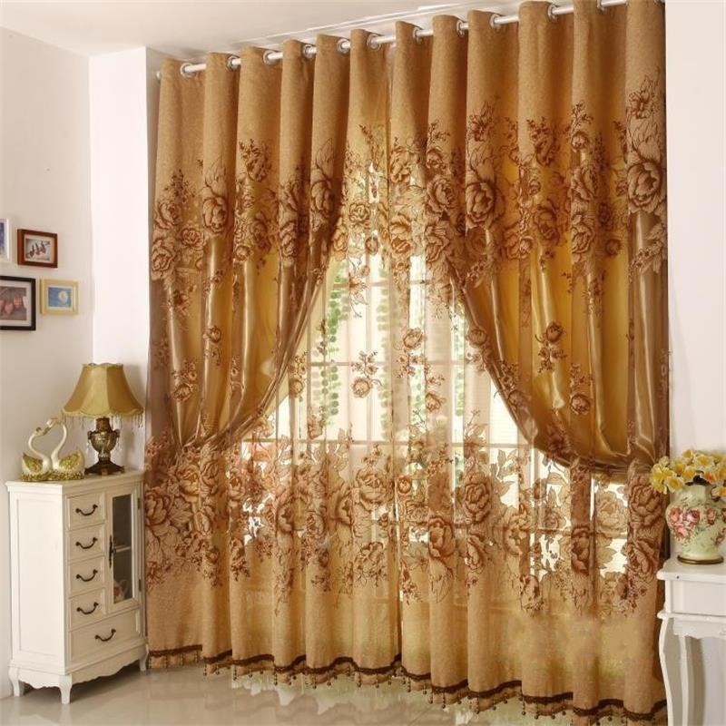 1 Pc Curtain And 1 Pc Tulle Peony Luxury Window Curtains: Aliexpress.com : Buy Hot High Quality European Style