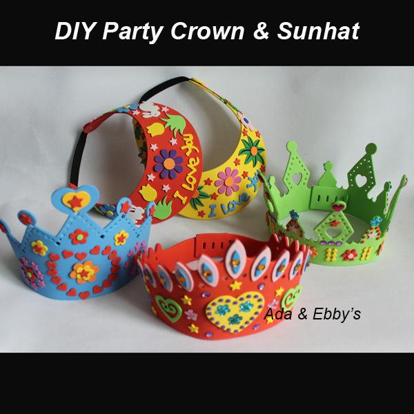 Free Shipping EVA Handmade Party Crown Tiara, DIY Child