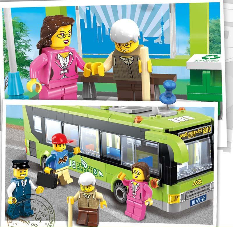 ENLIGHTEN 418Pcs Metropolis Sequence Bus Station Constructing Block Units Children Instructional Bricks Toys Minifigure Present Appropriate With Legoe