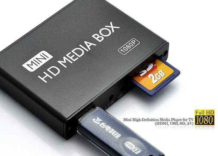 Mini HDMI Media Player 1080P Full HD TV Video multimedia player box support HDD MKV/RM-SD/USB/SDHC/MMC(China (Mainland))