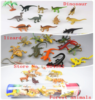 Dinosaur lizard Forest animals party supplies toy model Gift Package simulation animal 12pcs/set, 72set/lot Christmas Halloween