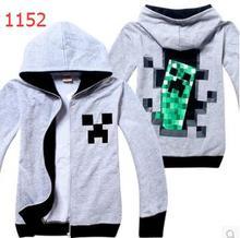 Creeper  big boy hoodie jacket  boys hoodies children sweater Planet Creeper Premium Boys Zip-Up Hoodies Games Items Coat 1 pcs(China (Mainland))