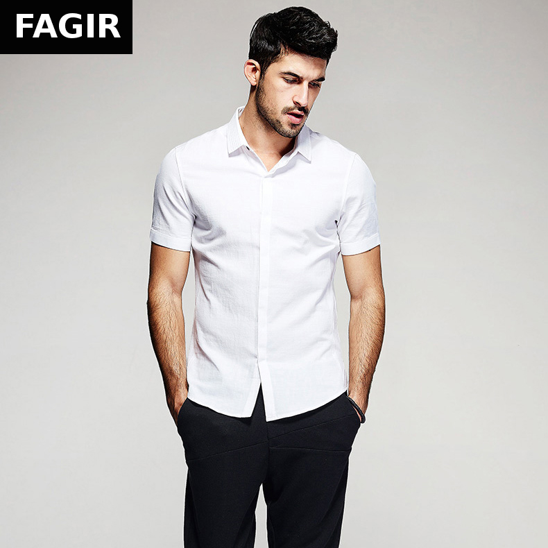 New 2016 summer fashion mens casual shirts 100 cotton for 100 cotton mens dress shirts