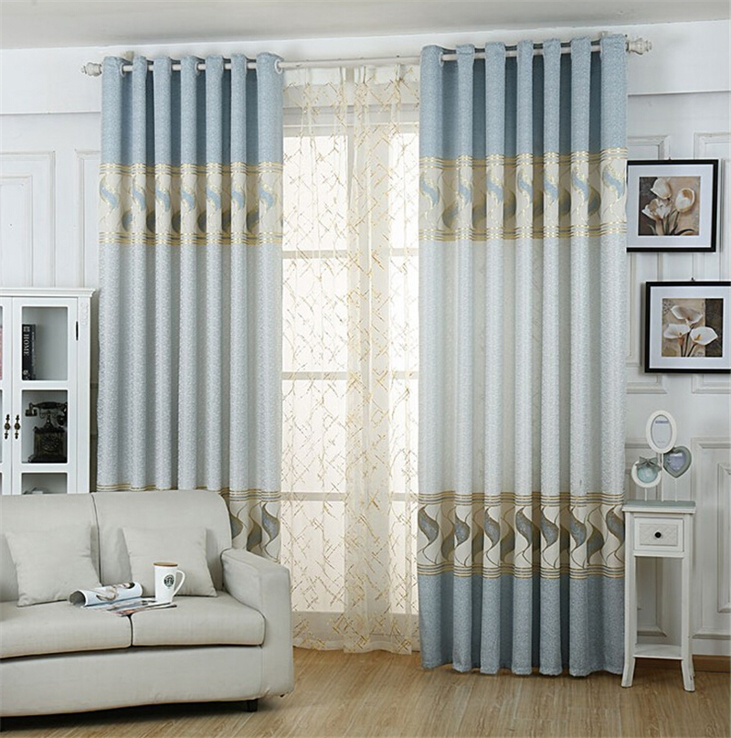 Living Room Curtains Luxury Curtain Jacquard Curtain Fabric Finished Products