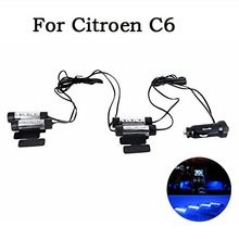 4-in-1 In Car Auto Charge Interior LED Atmosphere Lights LED Decoration Lamp Car Styling Blue For Citroen C6