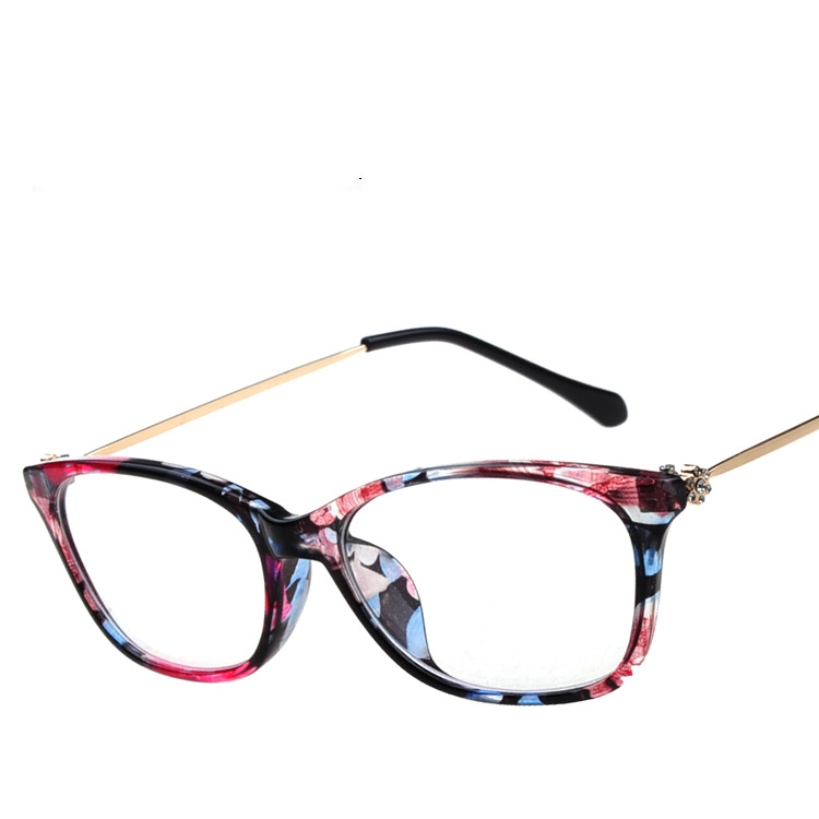 2014 new retro round floral eyeglass frame myopia men women plain lens spectacle optical glasses frames