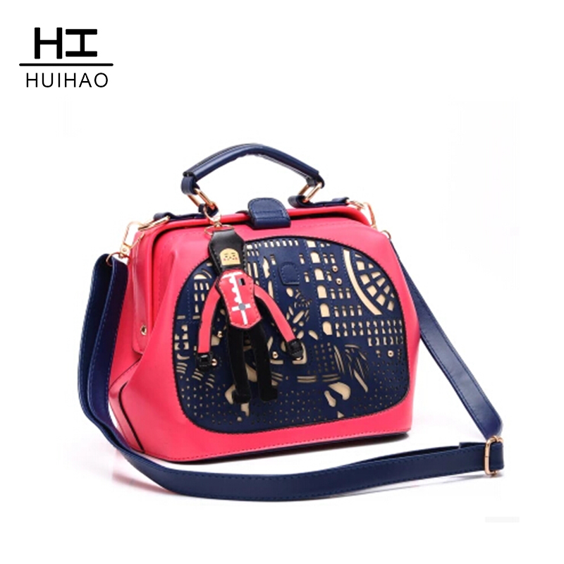 2015 New Hollow Out The Little Prince Color Matching Stitching Pony Doctor Baochao Female Bag Shoulder Bag His Laptop<br><br>Aliexpress
