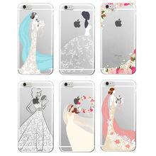 Wedding Bride Lace Dress Rose Soft TPU Phone Case Cover Coque Funda For iPhone 7 7Plus 6 6S 6Plus 5 5S SE 5C 4 4S Samsung Galaxy(China (Mainland))