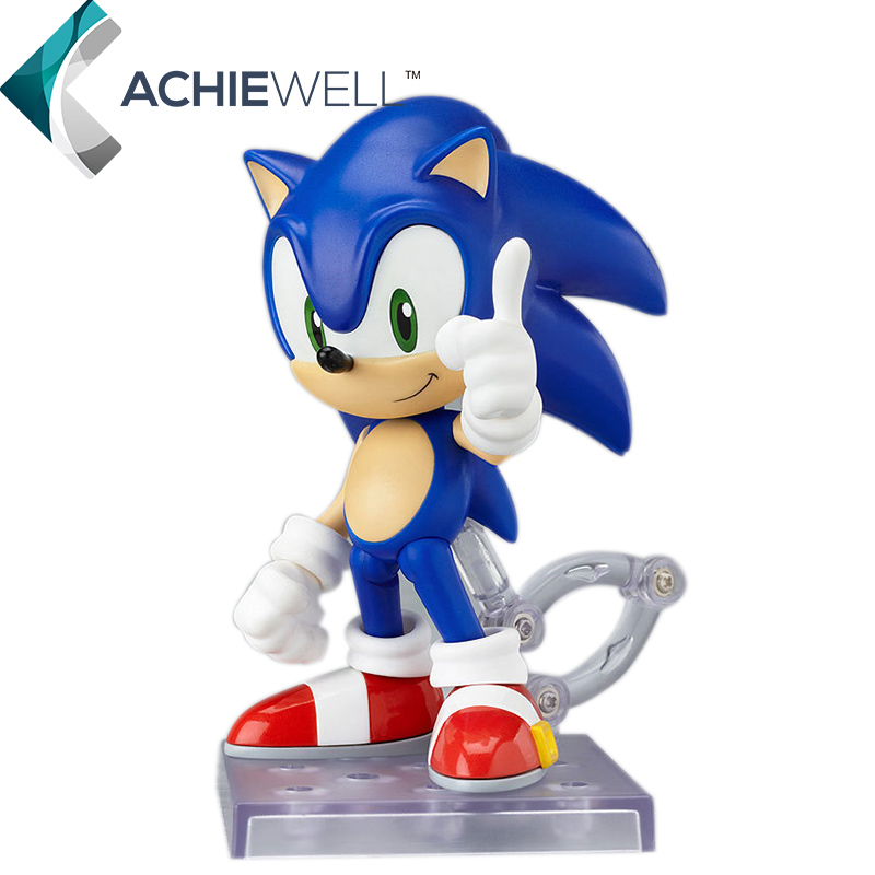 New GSC Sonic Games Model Sonic Anime Action Figure Clay Toys Video Game Collection 12cm Assemble Parts Kids Toys(China (Mainland))