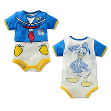 Hot Sale 2016 Summer Style newborn baby girl clothes fashion Cotton Short sleeve cartoon baby boy girl romper jumpsuit clothing