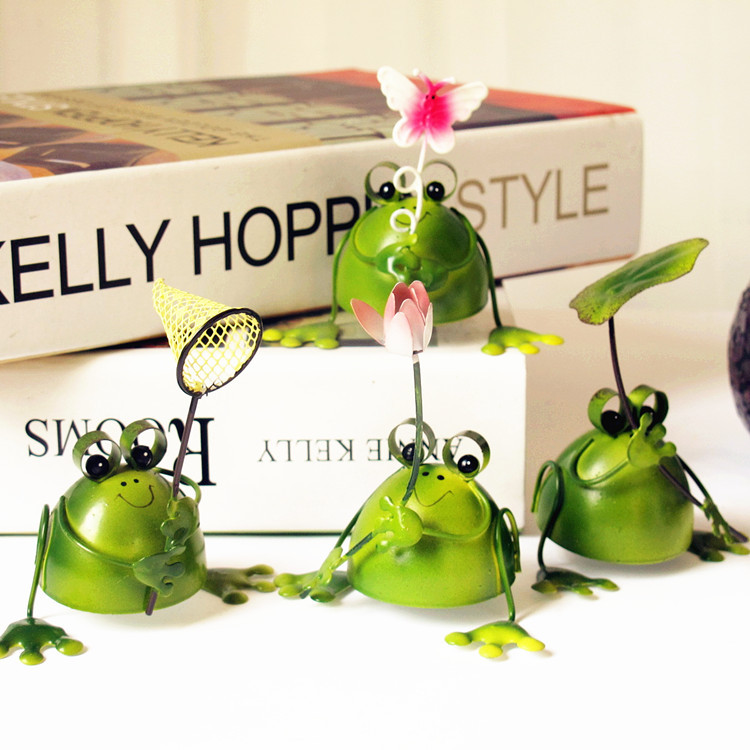 Pastoral home decorations ornaments cute little animals frog birthday gift prizes nursery children(China (Mainland))