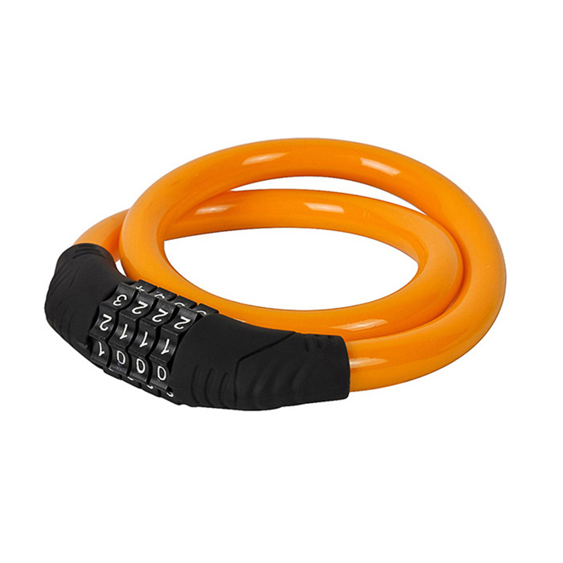 Super sell Jakroo Steell Wire Cable Bike Bicycle 4 Digit Combination Password Lock Orange