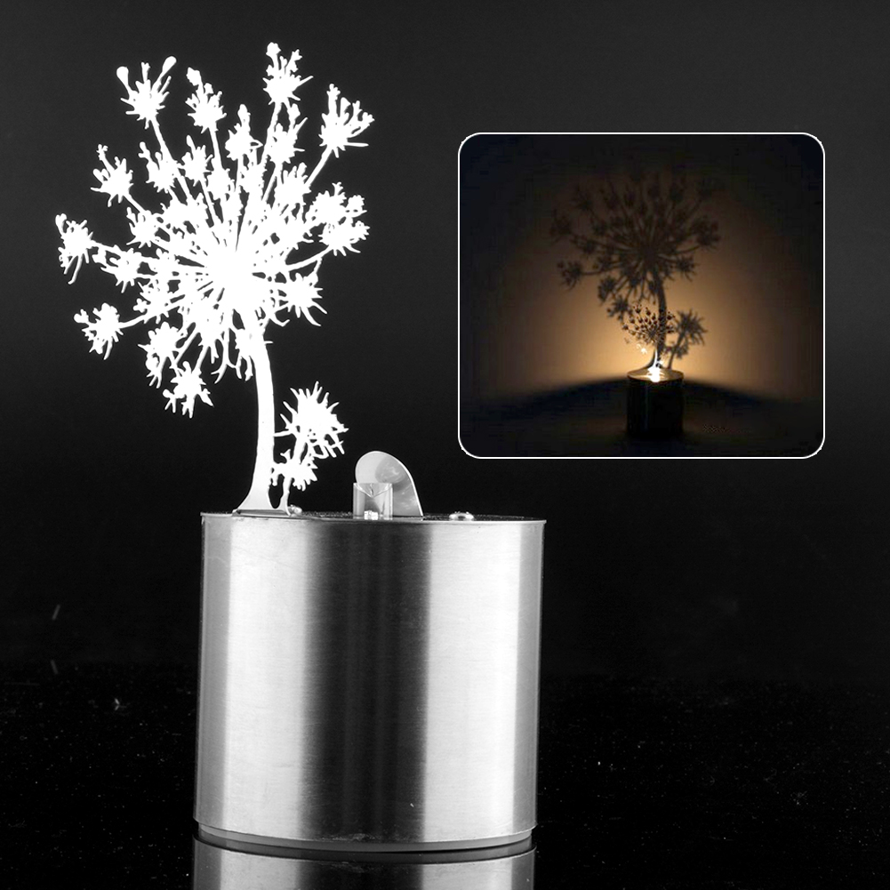 Dandelion Romantic Dreamlike LED Shadow Creative Saving Projector Reflection Twinkle Night Light Kid Gift<br><br>Aliexpress