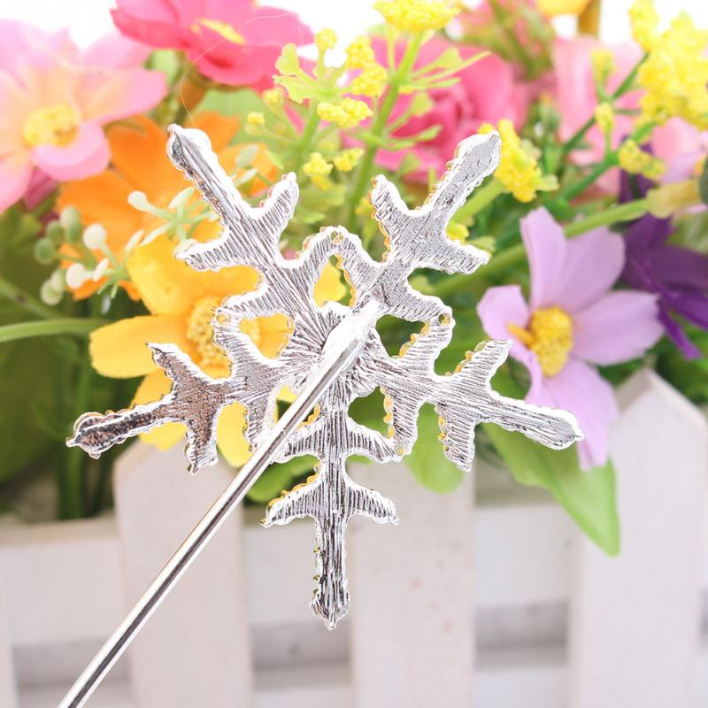 1pc Crystal Cake Topper with Rhinestone Snowflake Shape Design Topper Pick Stick for Cake Decorating(China (Mainland))
