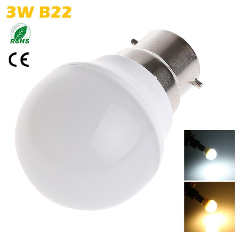 Table Lamp Bulbs: 1PCS / Lot CREE B22 LED Bulb Lamp 3W 2835 SMD Cool White / Warm White,Lighting