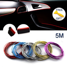 Buy 5M Universal Car Styling Interior Decoration Thread Sticker Car Body Indoor Modify Decorative Thread Strip Auto Car Stickers for $2.90 in AliExpress store