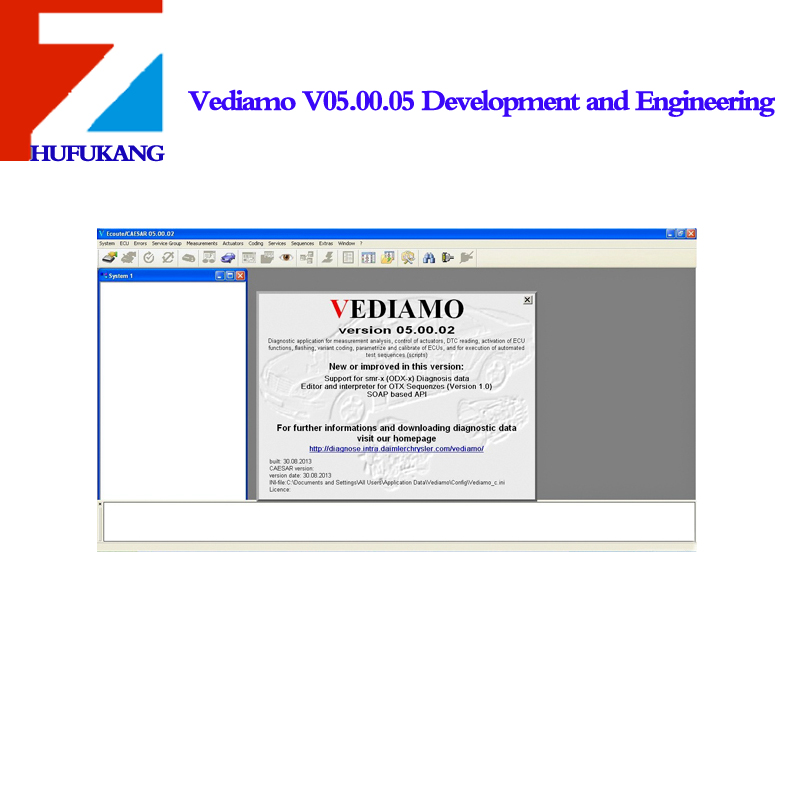 Vediamo V05.00.05 Development and Engineering Software for MB SD C4 Suitable for All Serial Numbers Not Including Database(China (Mainland))