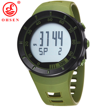 New Mens Sports Watches LED Casual Digital Watch Alarm Chronograph Relogio OHSEN Brand Fashion Army Military