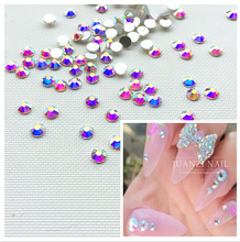ss3 Crystal AB/Clear AB Rhinestones for Nail Art decorations , 1440pcs/Pack, Flat Back Non Hotfix Glue on Nail Art Rhinestones