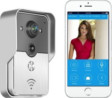 2015 Popular WiFi Wireless Video Door Phone intercom Doorbell Peehole Camera PIR IR Night Vision Alarm Android IOS Smart Home