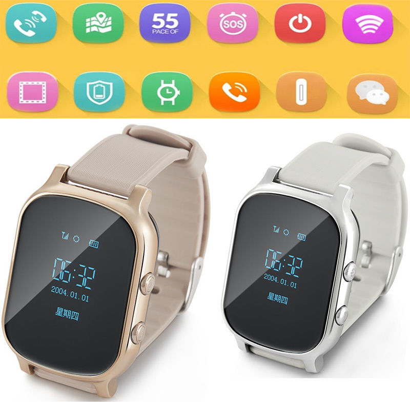 GPS Android iOS Timing position location Smart Watch Phone Tracker Newest For Kids/Ederly(China (Mainland))