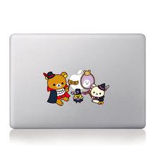 Oso de dibujos animados Rilakkuma familia maquillaje de Halloween vinilo pegatinas portátiles para Macbook Pro / 11 13 15 pulgadas portátil cubierta de piel(China (Mainland))