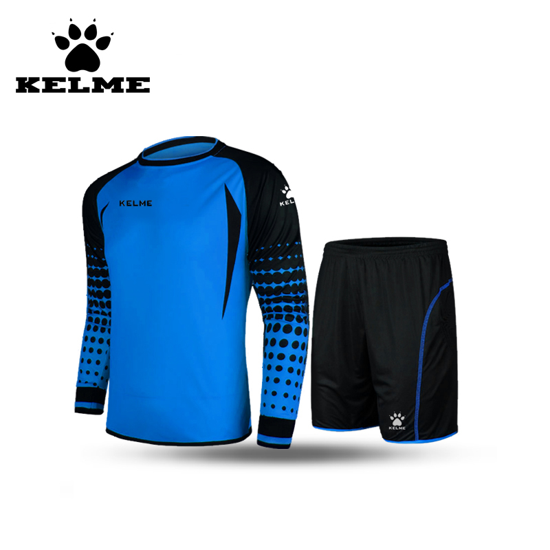 KELME Official Authentic Professional Soccer Jersey Set Wear Tracksuit Training Team Home and Away Long Top Shorts Plus Size 28(China (Mainland))