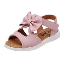 Chamsgend熱い夏キッズ夏キッズ子供サンダルファッションちょう結びの女の子フラットpricness靴ドロップシップap12m30(China)