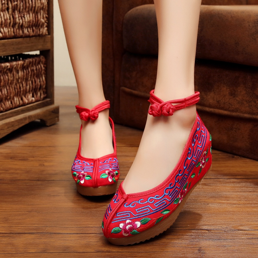 Buy Fashion Old Peking Cloth Shoes Chinese Style Inside Increased Mary Janes