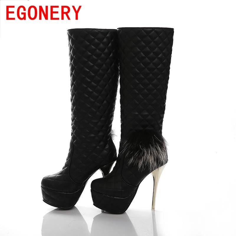 2013 new fashion beautiful bowtie lattice pattern knee highw warm inter boots shoes large size 33-43 knight