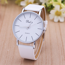 2016 New arrival Unisex relogio Fashion Simple Women watches leather Quartz Watch Casual wristWatches montre femme Gift Hot