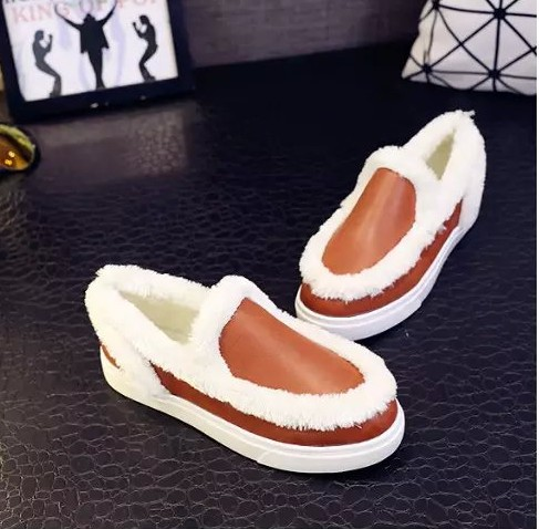 Autumn spring women casual warm flat heel loafers shoes retro slip on female mixed color flats black orange naked shoes<br><br>Aliexpress