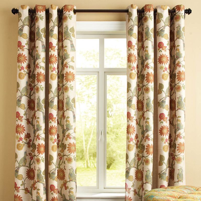 HOT SALE NEW Fashion design dpapes drapes modern floral grommet curtains for blackout window living bed room free shipping(China (Mainland))