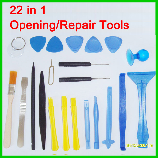 Free Shipping 22 in One Opening Tools Repair Tools Phone Disassemble Tools set Kit For iPhone iPad HTC Cell Phone Tablet PC(China (Mainland))