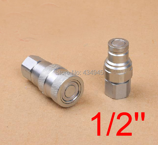 1/2'' inch hydraulic quick connector plane Flat Face Series Hydraulic Quick Couplings for navvy rooter excavator AEROQUIP FD89(China (Mainland))