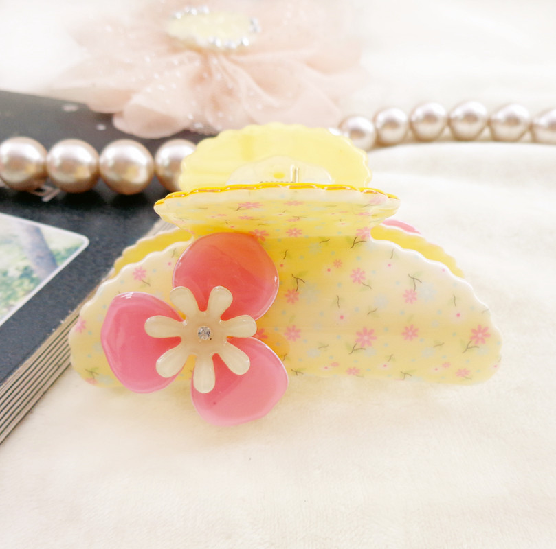 853 Newest hair claw clip Chinese goods Hairpin Bow Acrylic Girl's accessories Flity catch Grip - Zihua Headdress store