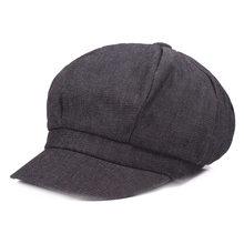 BUTTERMERE موزع الصحف المرأة الدنيم مثمنة كاب بيكر صبي قبعة قبعة الإناث الربيع العلامة التجارية القطن الفرنسية رسام قبعة(China)
