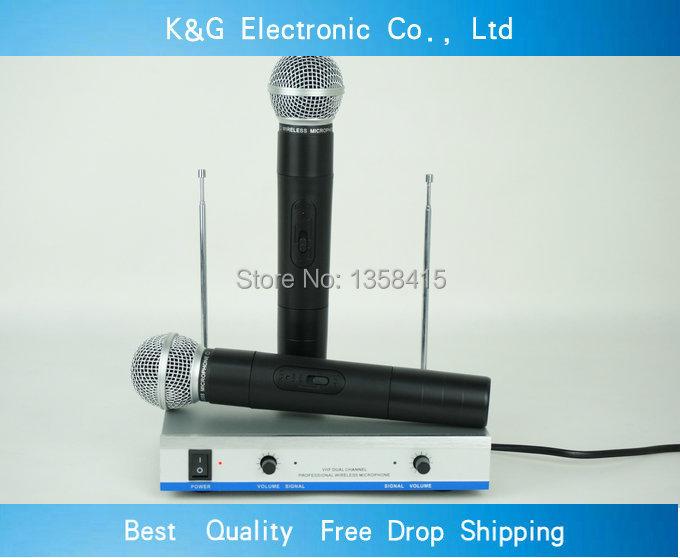 Здесь можно купить  KG-200 Professional Stage Performance  microphone doubled handheld karaoke Wireless microphone  Бытовая электроника