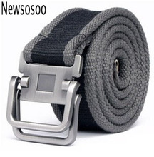 Buy 2017 fashion casual mens canvas luxury belt brand high men Metal Buckle belt military belts men army green black for $6.37 in AliExpress store
