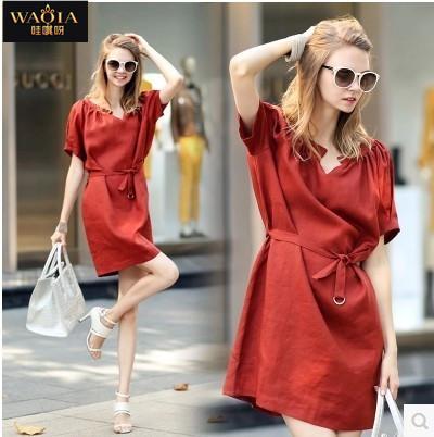 Женское платье WAQIA Femininas Vestidos Loose slim/fit