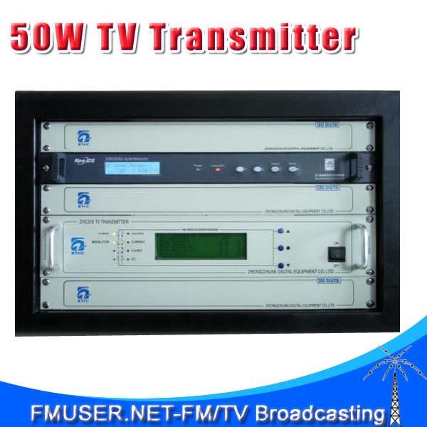 CZH518D-50W 50w DVB-T Digital TV Territorial Broadcast Transmitter for Professional TV Station(China (Mainland))