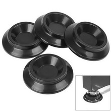 4pcs/set Hot Useful Round Black ABS upright Piano Caster Feet Pad Floor Carpet Protector(China (Mainland))