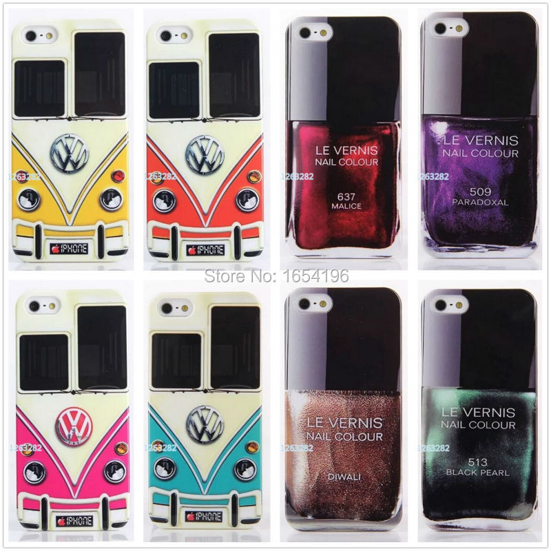 2015 Cases For iPod 4 5 Nail Polish Bottle The Car Head Case For iPhone 5s 6 Plus Covers For Samsung Galaxy S5 S6 For HTC One M8(China (Mainland))