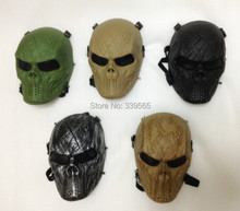 Wargame Tactical Mask Full Face Airsoft Paintball Halloween Party Cosplay Horror Gost Skull Black Hunting Army Military