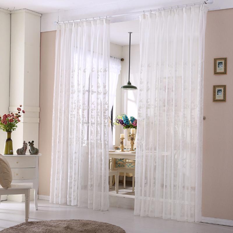 Cortina de gasa blanca compra lotes baratos de cortina - Cortinas de gasa ...