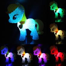 Colorful Cartoon Horse Lamp Night Light Changing Colors Child Kids Sleeping Novelty Light-up Toys(China (Mainland))