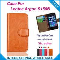 6 Colors Leotec Argon S150B Case Factory Price High Quality Leather Exclusive Flip Cover for Leotec Argon S150B Tracking