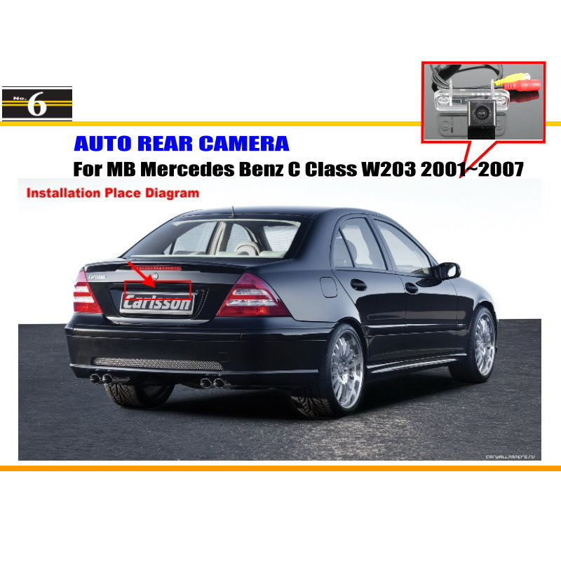 Car Rear View Camera For Mercedes Benz C Class W203 5D