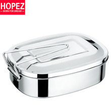 Stainless Steel Lunch Box/Summer Style 1000ml Chinese Student Tableware Free Shipping(China (Mainland))